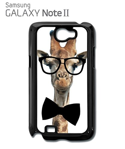 Geek Giraffe Nerd Geek Bow Tie Mobile Cell Phone Case Samsung Note 2 Black