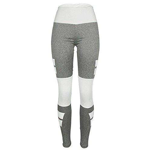 Damen Gamaschen LUVERSCO Hoch Taille Sport Fitnessstudio Yoga Laufen Fitness Gamaschen Hose Sportlich Hosen (M) (Sie Fitness Über Falten Pant)