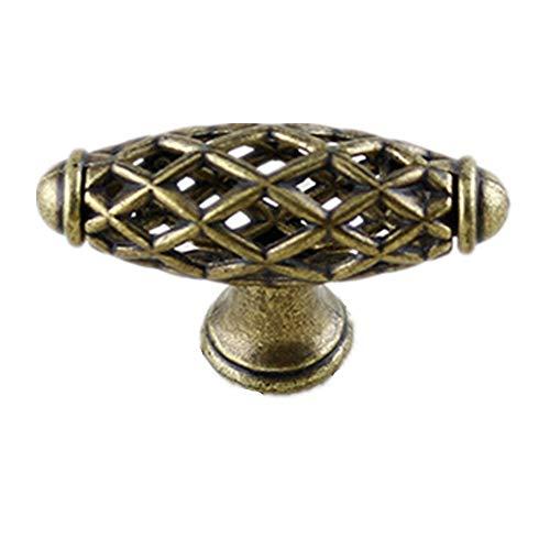 6x Banggo Möbelknöpfe, Antik-Bronze, Vintage-Stil, für Schrank, Schublade, Kleiderschrank, Küche, Badezimmer, Schlafzimmer, Möbel, Einzelloch: Gesamtlänge 60 mm) -