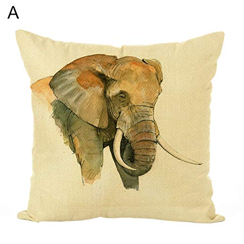 yayunchaye - Funda de cojín (45 x 45 cm), diseño de Elefante