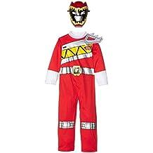 Ranger Rojo - traje del vestido de Dino carga de energía Ranger- Childrens Fantasía - Medio - 116cm - Edad 5-6