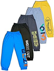 T2F Boy's Relaxed Regular fit Jogger Track Pants (Pack o