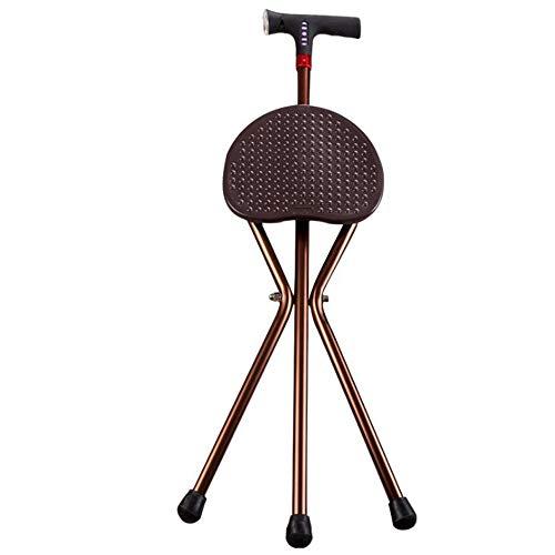 Cane-rattan-möbel (Z&S Altmodisch Rattan Stuhl multifunktions drehen smart dreibeinigen klappgurt Sitz Cane Stuhl trekkingstock)