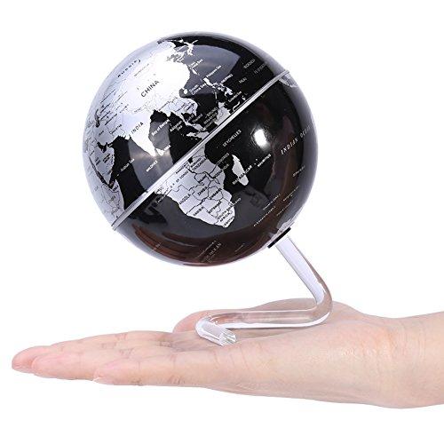 """zjchao Selbstdrehender Globus, Auto-Spinning Rotary Globe Revolving Welt Erde Karte Kugel Neuheit Geschenk Home Office Dekoration Kinder Pädagogik (4\"""" Schwarz)"""