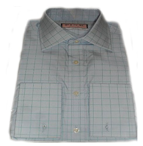 thomas-pink-mens-blue-with-green-check-cotton-double-cuff-shirt-17l