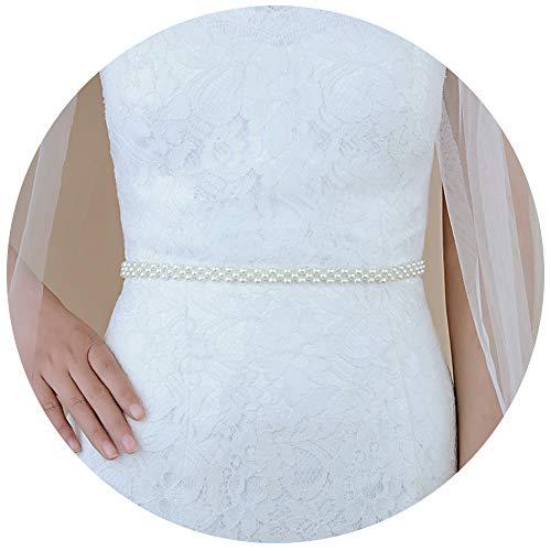 TOPQUEEN Perel Braut Schärpe Rhinestones Hochzeit Schärpe,Strass Hochzeit Gürtel,Diamanten Braut...