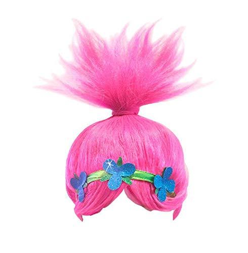 Lovelegis Perücke - Trolle - Mohn - Glatt - Kleines Mädchen - Zubehör - Verkleidung - Karneval - Halloween - Cosplay - Geschenkidee - Poppy - Trolls