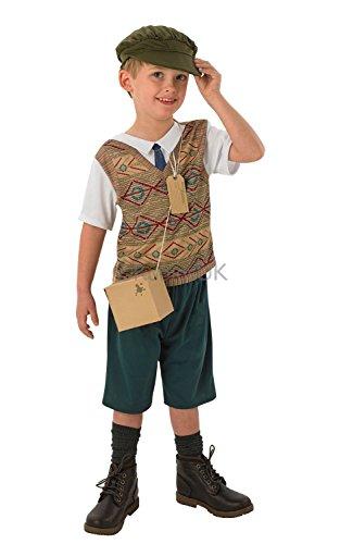 Evacuee Boy - Kids Costume 3 - 4 years (Kinder Evacuee Kostüme)