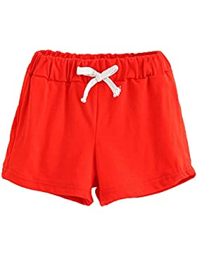 Ularma Verano Niños Pantalones Cortos de Algodón Niños y Niñas Ropa de Moda Bebé Pantalones Cortos