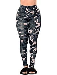 Amlaiworld Leggings Femmes Milieu Taille Yoga Jeans/Pantalons Sport Jogging