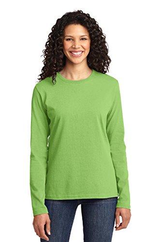 Port & société Femmes Manches Longues 54 cl T-Shirt 100%  coton Vert - Citron vert