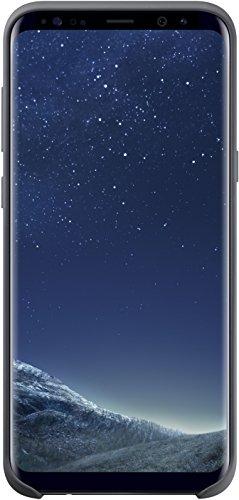 Samsung EF-PG955TSEGWW Silicone Cover (geeignet für Samsung Galaxy S8+) Dunkel Grau Silicon Case Screen Guard