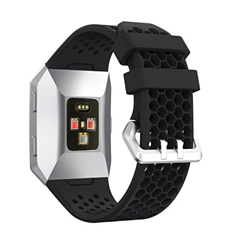Watchband YuStar New Replacment Hole Design Silicone Breathable Smart Watch Band Strap Bracelet For Fitbit Ionic Heart Rate Tracker