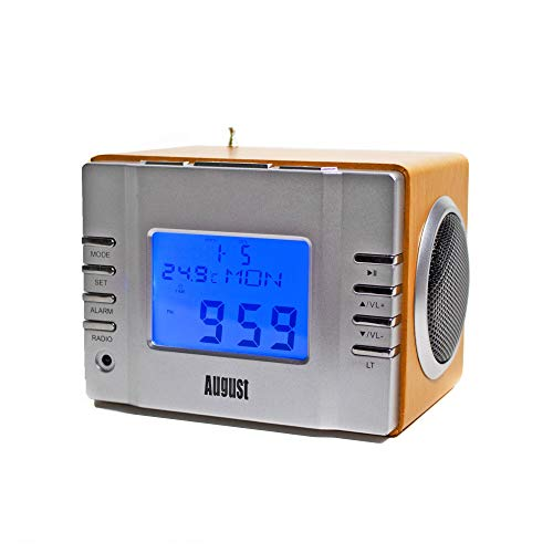 August MB300 - Radio FM MP3 y alarma despertador
