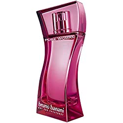 bruno banani Pure Woman – Eau de Toilette Natural Spray – Lieblich-warmes Damen Parfüm – 1er Pack (1 x 40ml)