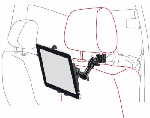Infuu Holders Stabile Kopfstützen-Halterung aus Metall für iPad 1 2 3 4 Air Mini/Samsung Galaxy Tab Note/Tablet-PC KFZ Auto Stange universal 007
