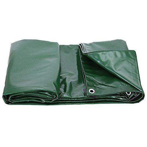 Unbekannt Z-P Zelt Leinwand, wasserdicht, gepolstert, Sonnenschutz, Stoff, Schattierung, für den Außenbereich, PVC-beschichtet, Regen, Stoff - Blau Grün, Schwarz, 3X5m