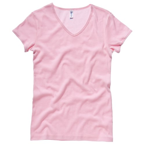 Bella + Canvas - Maglietta Scollo V 100% Cotone - Donna Rosso