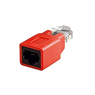 Alcasa mod-ca RJ45RJ45Red Cable Adapter–(RJ45Cable Adapter, Rj45, Male Connector/Female Connector, Red)