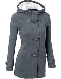 1fb9d283fa69 Elecenty Damen Lange Wintermantel Mit Kapuze Windbrecher Sweatshirt Mantel  Outwear Winterjacke Sweatjacke Parkajacke Jacke Steppjacke Outdoorjacke