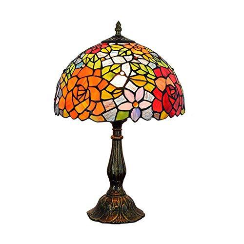 Light-GYH 8-Zoll-Glasmalerei Tischlampe, Tiffany-Stil Nachttischlampe E27 Nachtlicht mit Lampenschirmen für Wohnzimmer Schlafzimmer Schreibtischlampen-20Cm