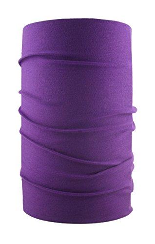 HeadLOOP Multifunktionstuch verschiedene Farben Schal Halstuch Kopftuch Microfaser (Violett) (Shirt Für Herren Lila)