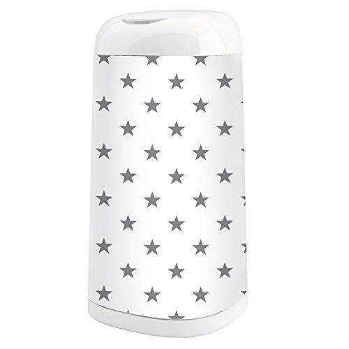 Angelcare Dress-Up Windeleimer mit Bezug Grey Stars