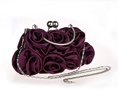 Aronvivi, Poschette giorno donna nero black taglia unica purple(2)