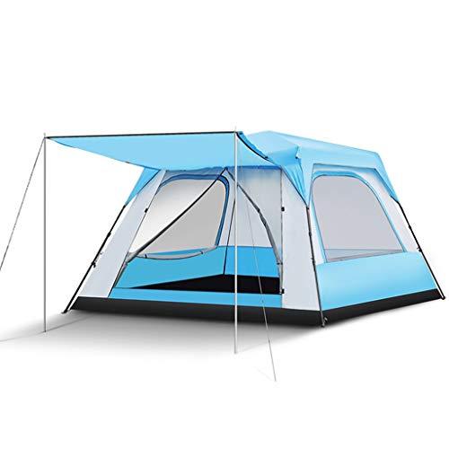 LYN Große 5-8 Personen Campingzelt Automatische Pop Up 4 Saison Regendicht Faltbare Tragbare Quadratische Familienzelt, 2 Farben (Color : Blue)