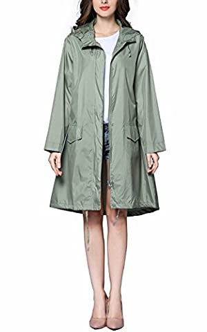 Awake Regardez Classique Raincoat Femmes Veste à Capuche Imperméable