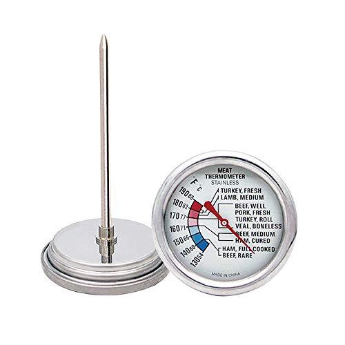 ProAccurate - Termómetro analógico para carne y aves de corral, para parrilla, horno de ahumado, acero...