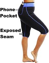 Anti Celulitis Pérdida de Peso Hot Adelgazante Sauna Sudor Neopreno Pantalones Talla:mediano