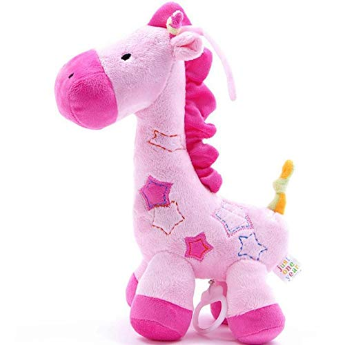 Baby Grow Bell Toys Pelucia Horse Dolls Music Toys The Bell Plush Stuff Toys Music Box of Baby Bed Bell Pronunciation Doll Baby Toys (Pink - Light Pink)