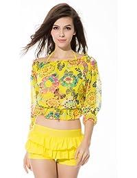 Ivy Shi Damen Bikini Mit Cover Up shirt