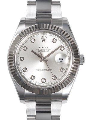 rolex-datejust-ii-argent-diamond-dial-or-blanc-18k-cannele-bezel-oyster-bracelet-montre-pour-homme-1