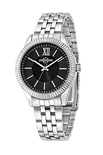 Chronostar Luxury-Orologio da uomo al quarzo con Display analogico e cinturino in acciaio INOX color argento R3753240503