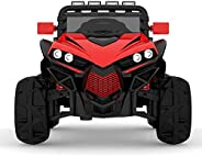 Megastar - Ride On Upgraded Electric Ride On Thumper Buggy Jeep, Black/Red