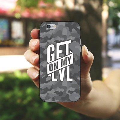 Apple iPhone 8 Hülle Premium Case Cover Montanablack Fanartikel Merchandise Get On My Level Gray Silikon Case schwarz / weiß