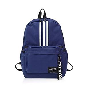 FANDARE Unisexo Mochila Bolsa de Escuela Hombres/Mujeres School Bag Adolescente Mochila Niña/Niño Viaje Mochilas Camping Daypack Poliéster Azul