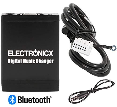 Electronicx Elec-M06-VW12-BT Adapter USB SD MP3 AUX Bluetooth Freisprechanlage für Audi VW, Skoda Seat 12 Pin