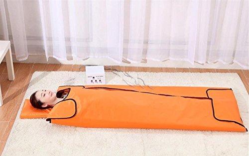 SPORT&SAUNA Far Infrarot-Therapie Sauna Decke, Khan Dampf Entgiftung Beauty-Pad, Minus Der Körper Überschüssiges Fett, Entlasten Sie Körperliche Müdigkeit,Orange (Dampf-infrarot-sauna)