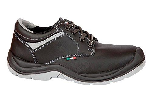 Giasco Kent S3 Sicherheitsschuhe Modell, Leder WRU Hinterteil. Futter-Gewebe atmungsaktiv und abriebfest. Schuhe mit Gewebeeinlage reflektierend. Schwarz