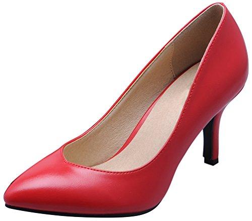 CFP ,  Damen Durchgängies Plateau Sandalen mit Keilabsatz Rot