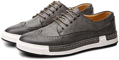 Zapatos de Cuero Hombre,Cuero PU Boda Negocios Calzado Vestir Zapatos Oxford Derby Elegantes y Respirable Amarillo...
