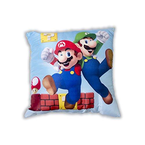 Unbekannt Super Mario Kissen, quadratisch, Multi Farbe, 40x 40cm