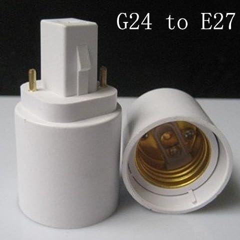 G24 a E27 LAMPADA lampadine Adapter Converter