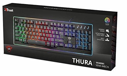 Trust GXT 860 Thura Halbmechanische LED-Tastatur (Deutsches QWERTZ Layout, RGB-Beleuchtung, Anti-Ghosting) - 7