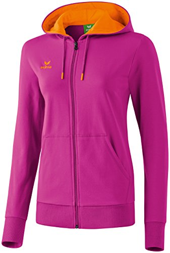erima Damen Sweatjacke Graffic 5-C, Magenta/Orange, 44, 607519