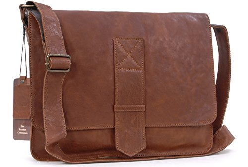 Borsa Messenger Ashwood in pelle - WLB200 - Marrone Chiaro