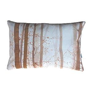 Buchen Herbst Wald Kissen, taupe, braun, beige, 40×60 cm Hülle, Baumwolle, Natur Motiv, Deko, Sofa, Garten